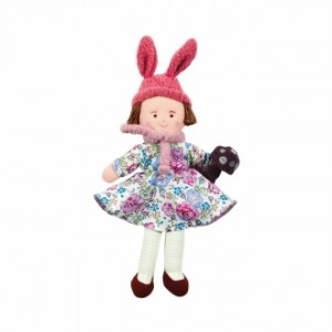 Grossiste Poupee bonnet lapin liberty rose 22 cm