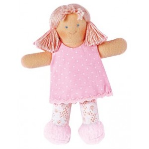 Grossiste Poupee robe rose 13 cm