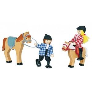 Jouet Poupees articulees cavaliers et chevaux