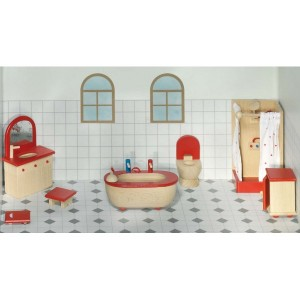 Jouet Meuble pour maison de poupees : Salle de bain