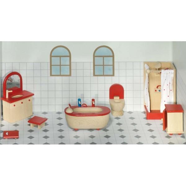 Meuble pour maison de poup es salle de bain maison de for Meuble salle de bain maison