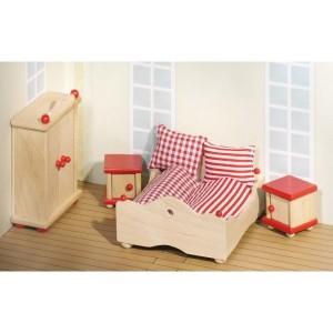Grossiste Meuble pour maison de poupees articulees : Chambre a coucher parents