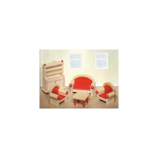 meuble pour maison de poup es articul es s jour maison de poup es et accessoires boutique. Black Bedroom Furniture Sets. Home Design Ideas
