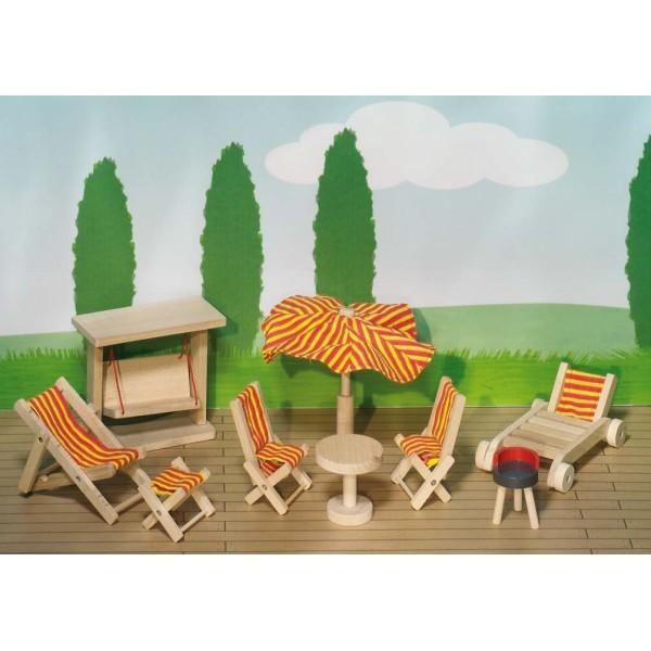 meuble pour maison de poup es articul es jardin maison de poup es et accessoires boutique. Black Bedroom Furniture Sets. Home Design Ideas