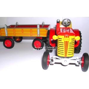 Tracteur Zetor à clé avec sa remorque-Kovap