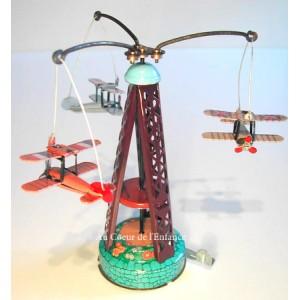 Carroussel 3 avions biplan