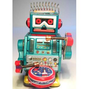 Grossiste Robot petit bleu tambour