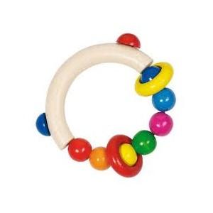 Grossiste Hochet demi cercle avec perles et deux anneaux