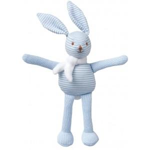 Grossiste Hochet lapin raye ciel 16 cm