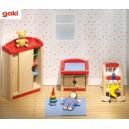 Jouet Meuble pour maison de poupées articulées : Chambre Bébé