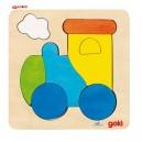 Jouet Puzzle en bois locomotive