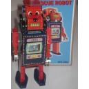 Jouet Robot tête de chien bleu et rouge