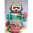 Jouet Robot petit bleu tambour