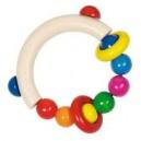 Jouet Hochet demi cercle avec perles et deux anneaux